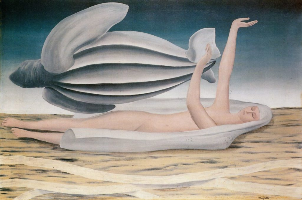 "Картина Рене Магритта ""Одежда приключений"" (The Garment of adventure, 1926)"