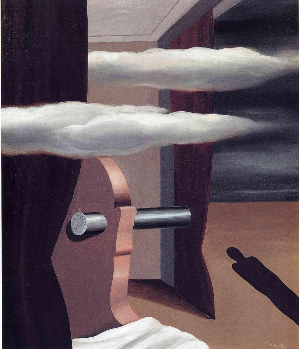 "Картина Рене Магритта ""Катапульта пустыни"" (The catapult of desert, 1926)"