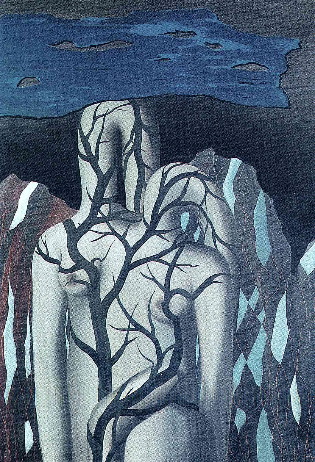 "Картина Рене Магритта ""Ландшафт"" (Landscape, 1926 год)"